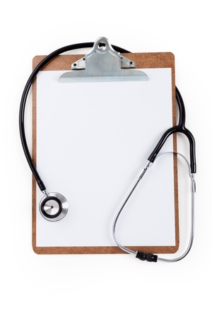 Stethoscope and Clipboard, concept of Healthcare And Medicine