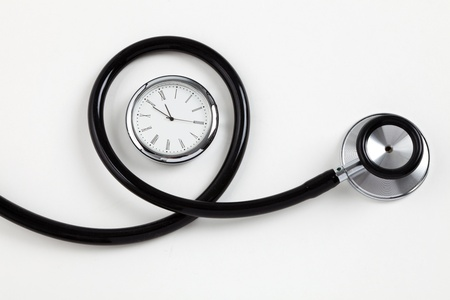 stethoscope: Stethoscope and Clock, concept of Time Problems