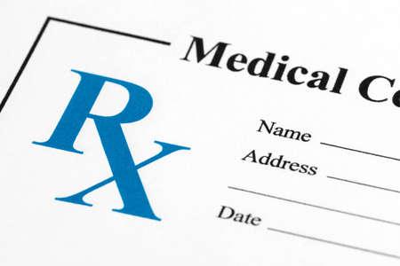 Prescription close up, concept for Healthcare And Medicine photo