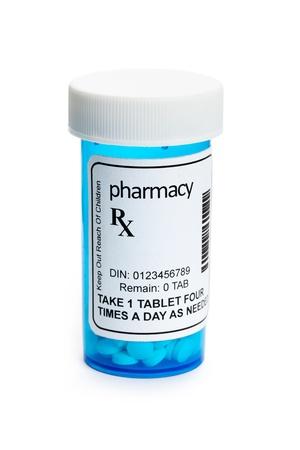 recetas medicas: Recipiente para las p�ldoras, el concepto de Asistencia sanitaria y medicina