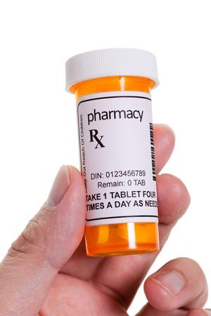 pastillas: Recipiente para las p�ldoras, el concepto de Asistencia sanitaria y medicina