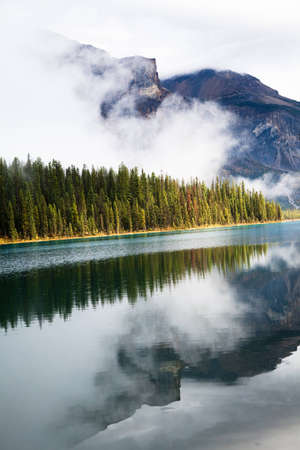 Emerald lake. Yoho National park. Alberta. Canada, Oct. 2011 Stock Photo - 12755400