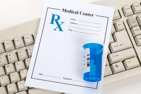 Blank Prescription, concept for Healthcare And Medicine Stock Photo - 12755246