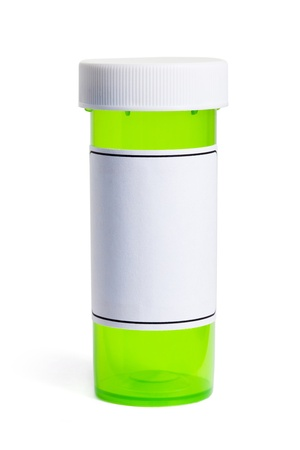 label: Pill Bottle, concept for Healthcare And Medicine