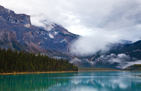 Emerald lake. Yoho National park. Alberta. Canada, Oct. 2011 Stock Photo - 13000666