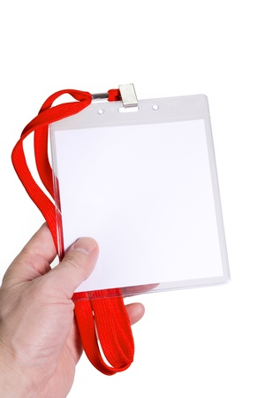 Name Tag with white background photo