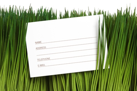 Address Book and green grass close up Stock Photo - 13000626