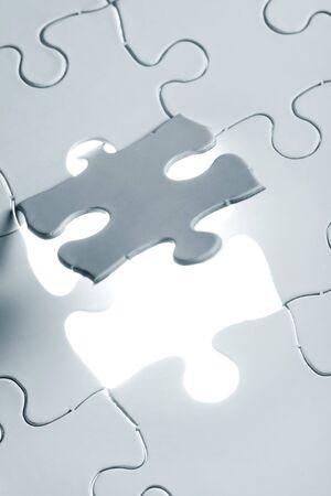 blue Blank Puzzle, business concept  photo