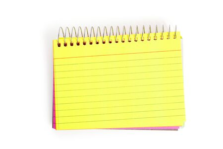 notebook paper background: Note Pad with white background