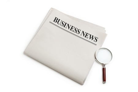 Business News, Blank Newspaper with white background Stock Photo - 13184200