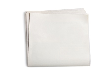 blank paper: Blank Newspaper with white background