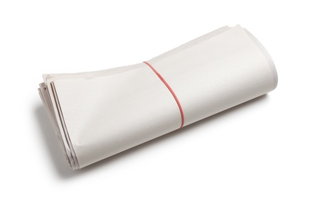 Blank Newspaper Roll with white background photo