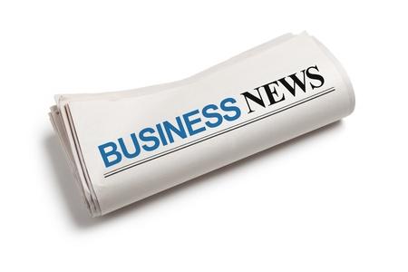 흰색 배경 비즈니스 뉴스, 신문