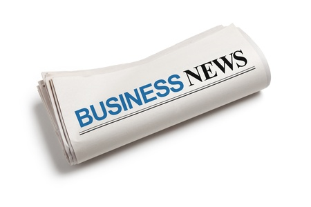 Business News, Newspaper with white background photo