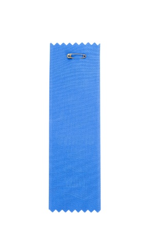 Blue Award Ribbons with white background