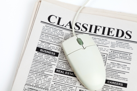 Fake Classified Ad, newspaper, business concept. Imagens - 13366920