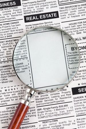 가짜 분류 광고, 신문, 비즈니스 개념입니다. 스톡 콘텐츠 - 13366972