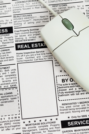 Fake Classified Ad, newspaper, Real Estate concept  photo