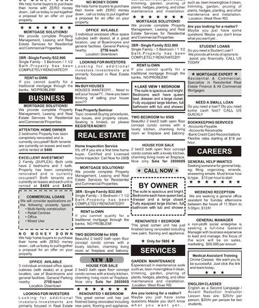 가짜 분류 광고, 신문, 비즈니스 개념 스톡 콘텐츠