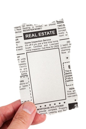 Fake Classified Ad, newspaper, Real Estate concept  Stock Photo - 13719606
