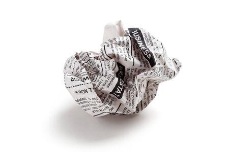 fake newspaper: Fake Newspaper ball, business concept