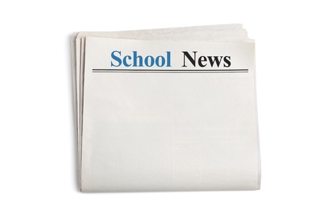 School News, Newspaper with white background photo