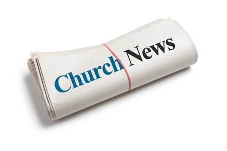 Church News, Newspaper with white background Stock Photo - 14322645