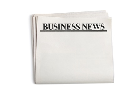 Business News, Blank Newspaper with white background photo