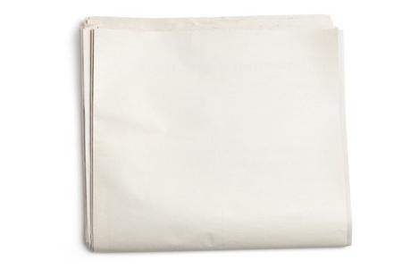 흰색 배경에 빈 신문 스톡 콘텐츠 - 14536788