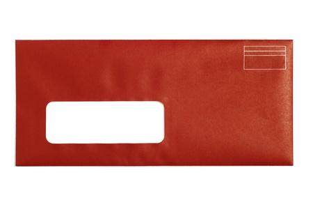 Rood Venster Envelop met witte achtergrond
