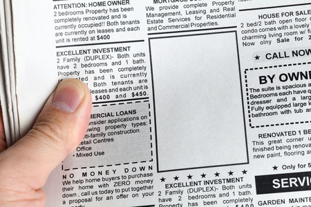 Fake Classified Ad, newspaper, Business concept. Stock Photo - 14577917