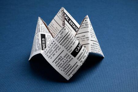 신문 포춘 텔러, 분류 광고, 비즈니스 개념입니다. 스톡 콘텐츠