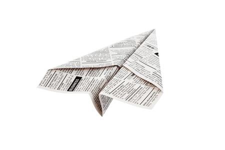 가짜 신문 비행기, 분류 광고, 비즈니스 개념입니다. 스톡 콘텐츠 - 14577914
