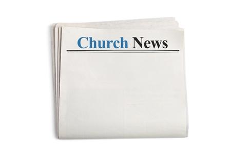 periodicos: Church News, peri�dico con fondo blanco