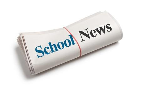 School Nieuws, Krant met een witte achtergrond