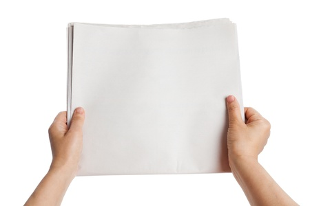 Blank Newspaper with white background Stock Photo - 14536806