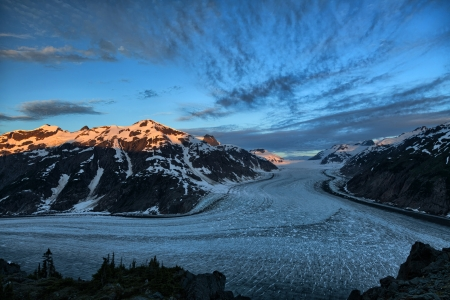Salmon Glacier at Hyder Alaska photo