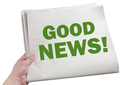 Good News, Newspaper with white background Stock Photo - 15793917