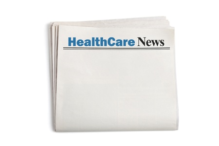 HealthCare News,Newspaper with white background