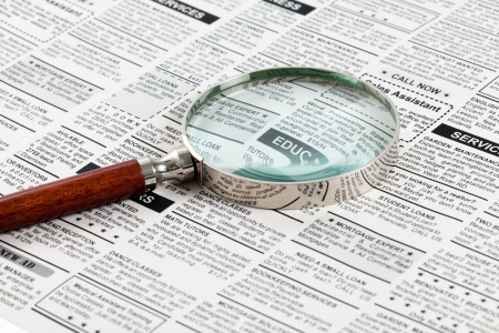 classifieds: Fake Classified Ad, newspaper, business concept.