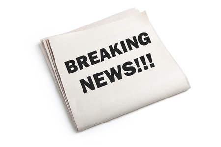 Breaking News with white background photo