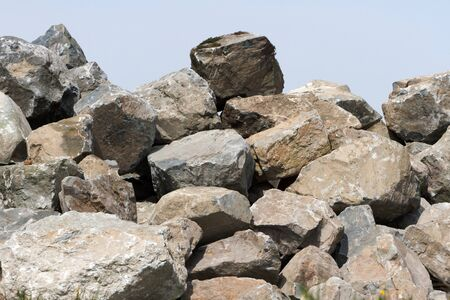 material: a pile of rock, Construction Material