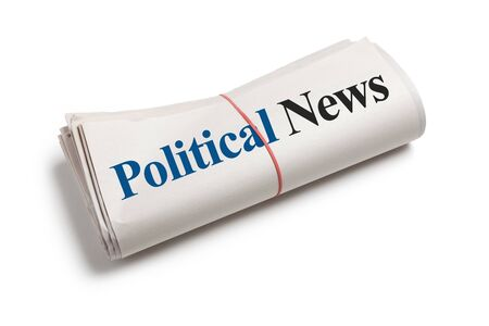 Political News, Newspaper Roll with white background photo