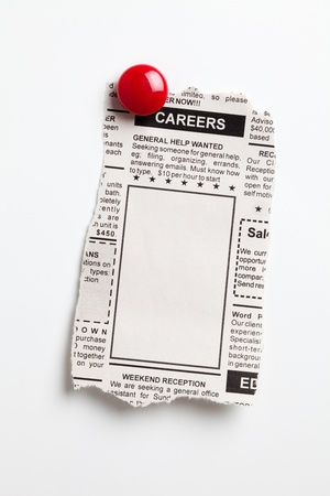 magnets: Fake Classified Ad, newspaper, Career concept.