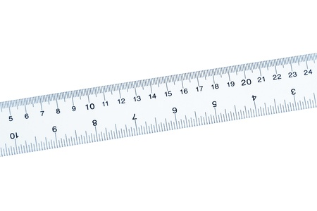 Plastic transparent Ruler with white background Reklamní fotografie