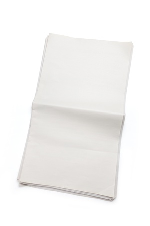 Blank Newspaper with white background photo