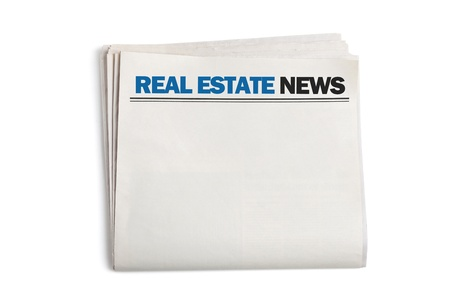 Real Estate News, Blank Newspaper with white background Stock Photo - 18566596