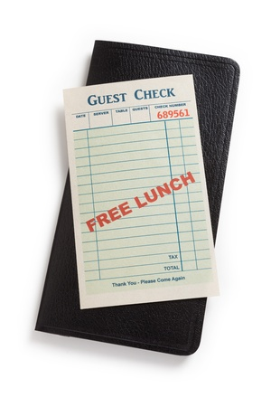 Free Lunch or No Free Lunch, Business Concepts. photo