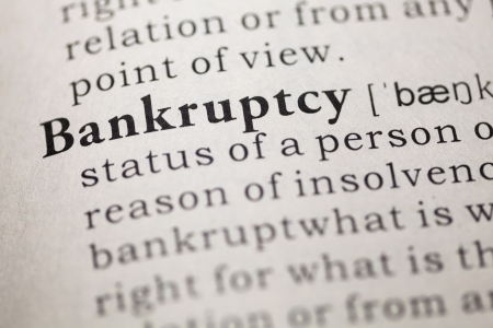 Dictionary definition of the word Bankruptcy  Fake Dictionary