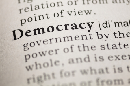 Dictionary definition of the word democracy  Fake Dictionary